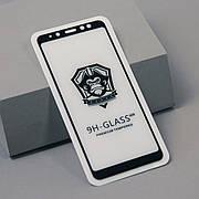 Защитное стекло 2.5D Premium на Samsung A8 plus Black