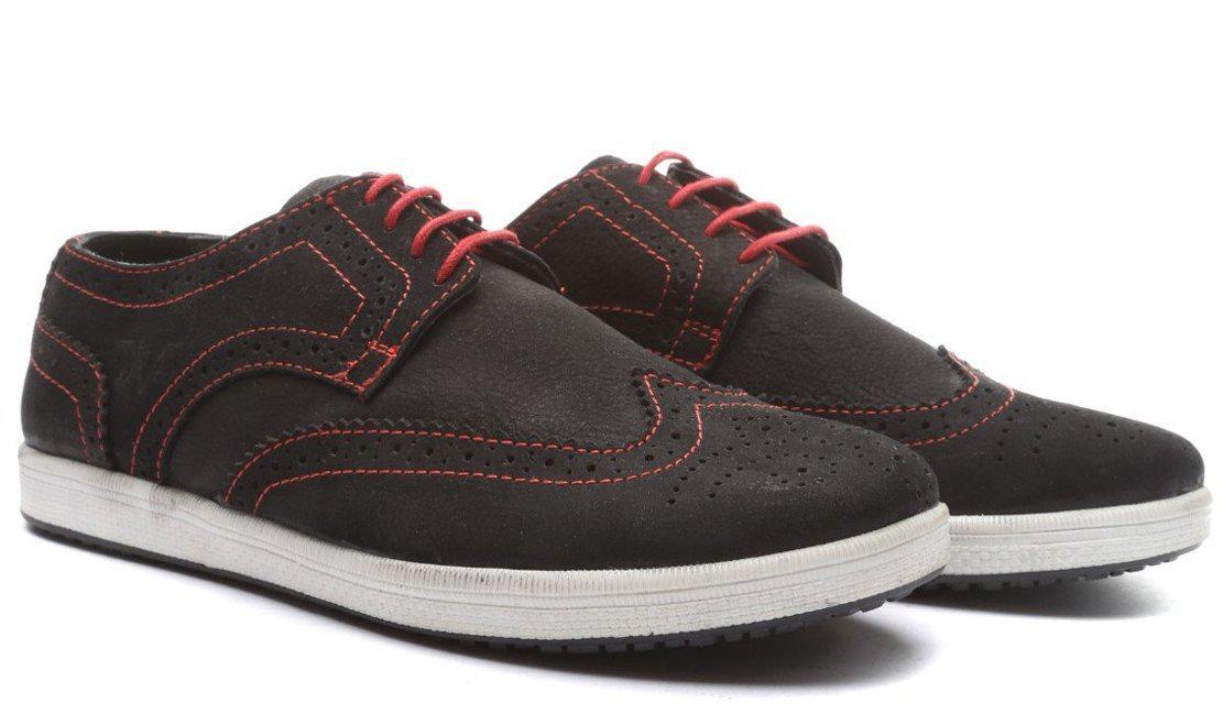 Туфли броги на низкой подошве