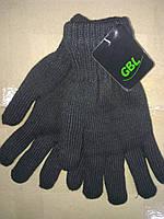Перчатки вязаные двойные мужские Оптом, фото 1