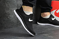 Nike Free Run 3.0 мужские кроссовки в сетку. артикул: 5080 черно белые