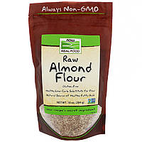 Now Foods, Real Food, сырая миндальная мука, 10 унц. (284 г)
