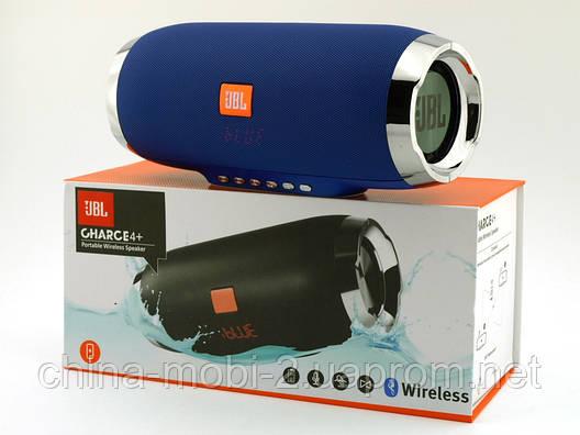 JBL Charge 4+ E4 plus 20W репліка, портативна колонка з Bluetooth FM MP3, синя, фото 2