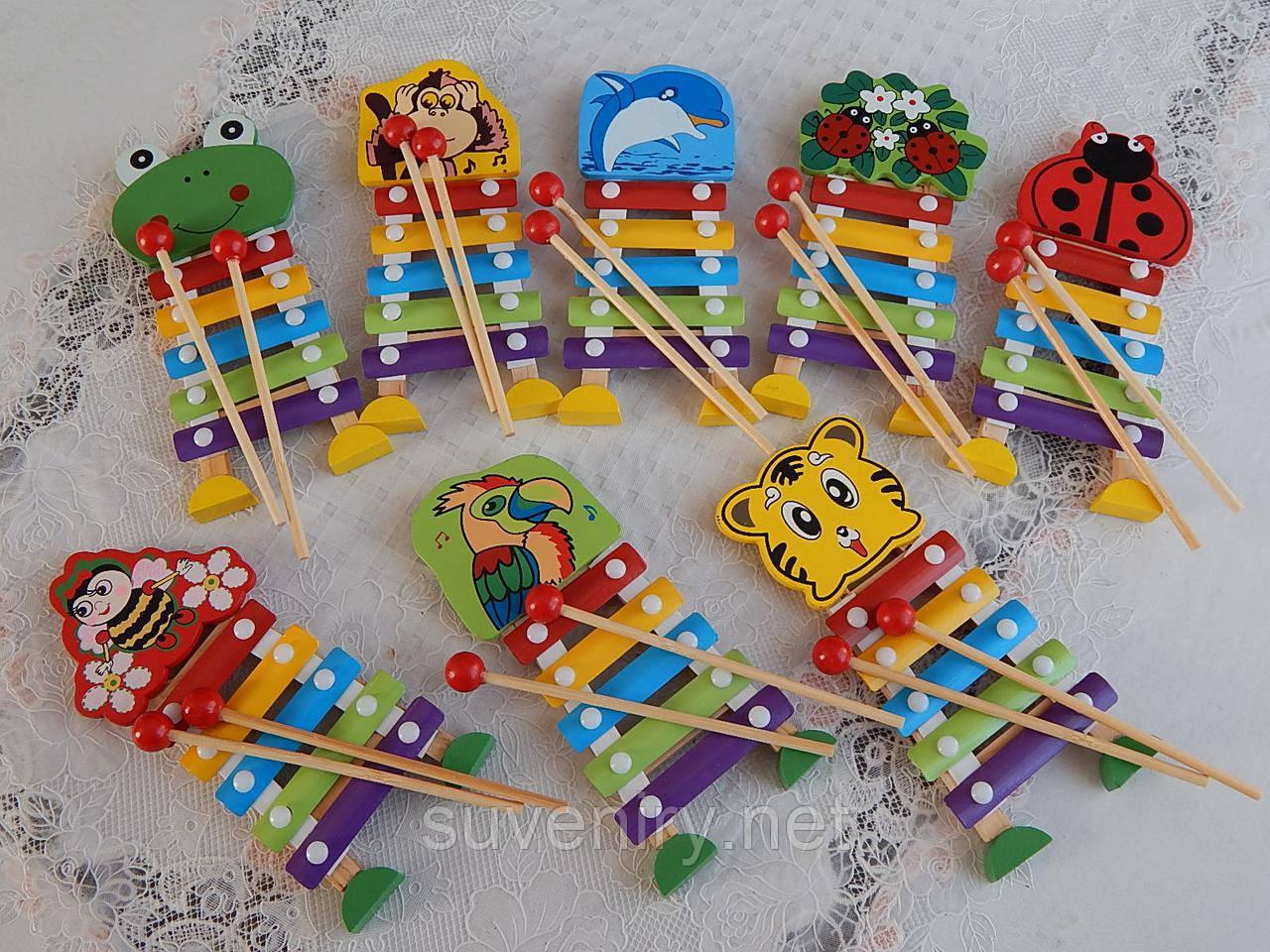 Деревянная детская музыкальная игра ксилофон