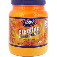 Now Foods, Спорт, моногидрат креатина, чистый порошок, 1 кг (2,2 фунта)