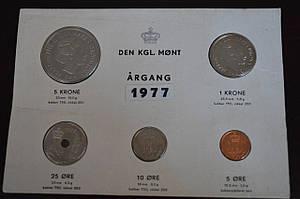Минт сет Дании, 1977 г