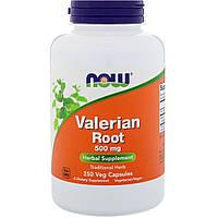 Now Foods, Корень валерианы, 500 мг, 250 вегетарианских капсул