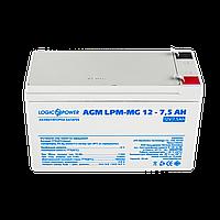 Аккумулятор мультигелевый AGM LPM-MG 12 - 7,5 AH