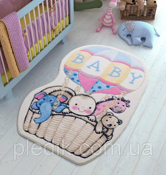 Килимок для дитячої кімнати 100х150 Confetti Air Baloon Blue