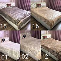 Покривало з штучного хутра на ліжко диван, велике покривало на диван ліжко, покривало і пледи на ліжко диван, сучасні покривала на, фото 4