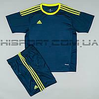 Футбольная форма Adidas игровая для команд темно-синяя