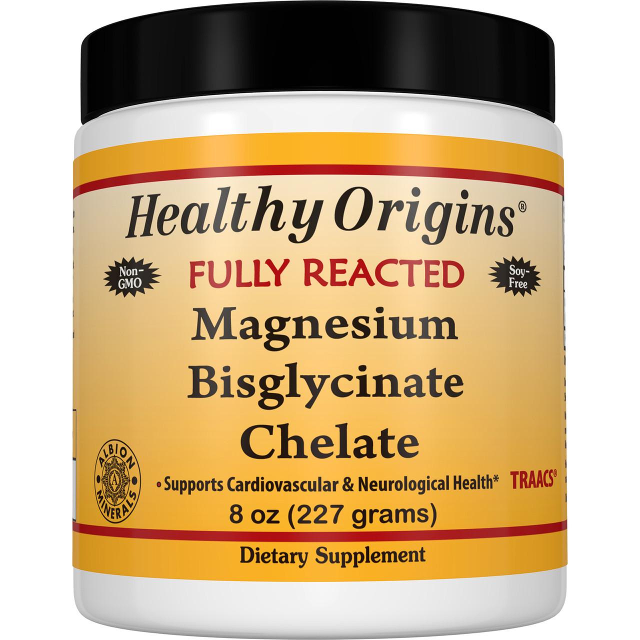 Healthy Origins, Полностью прореагировавший хелатный бисглицинат магния, 8 унций (227 г)