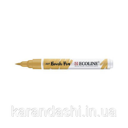 Ручка-кисточка Ecoline Brushpen (227), Охра желтая, Royal Talens, фото 2