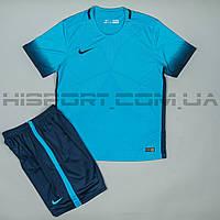 Футбольная форма игровая Nike сине-голубая