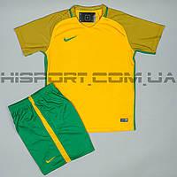 Футбольная форма игровая Nike желто-зеленая