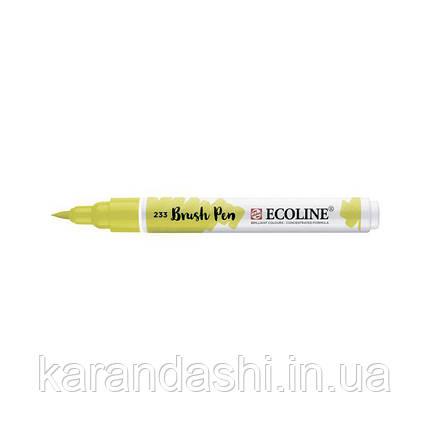 Ручка-кисточка Ecoline Brushpen (233), Бледно-зеленый, Royal Talens, фото 2