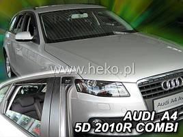 Дефлекторы окон (ветровики)  Audi A4 5D 2009R.-> COMBI 4шт (Heko)