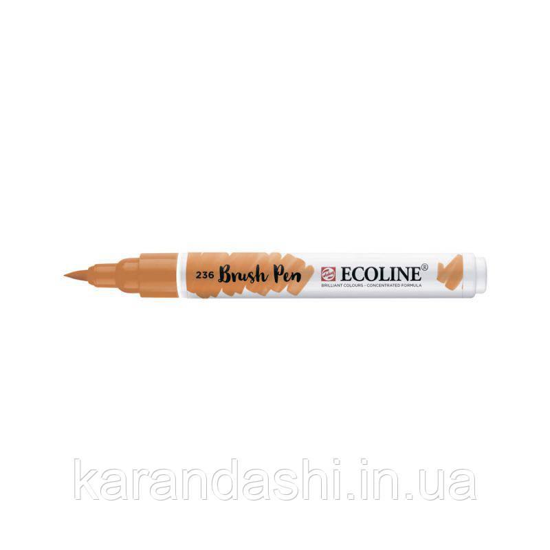 Ручка-кисточка Ecoline Brushpen (236), Оранжевая светлая, Royal Talens