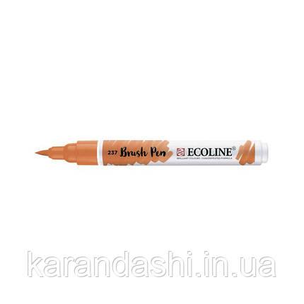 Ручка-кисточка Ecoline Brushpen (237), Оранжевая светлая, Royal Talens, фото 2