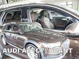 Дефлекторы окон (ветровики)  Audi A6 2011-> (C7) Combi 4шт (Heko)