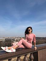 Женский стильный замшевый комбинезон TM B&H с рукавом 3/4, фото 1