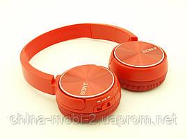 SONY MDR-XB400BY Bluetooth навушники гарнітура c FM MP3 репліка, червоні, фото 3