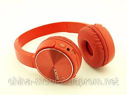 SONY MDR-XB400BY Bluetooth навушники гарнітура c FM MP3 репліка, червоні, фото 2