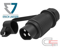 JP-3M Вилка 3 конт., 251100 DIN 9680, 25А, 6-24B, ERICH JAEGER