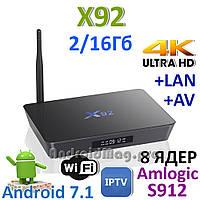 Андроид ТВ приставка Smart TV X92 Amlogic S912 2GB/16GB