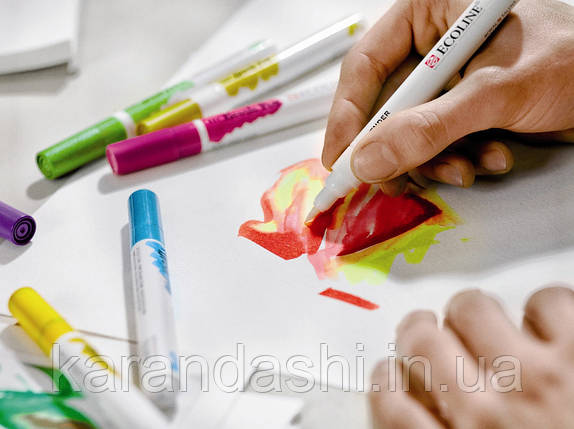 Ручка-кисточка Ecoline Brushpen (411), Сиена жженая, Royal Talens, фото 2