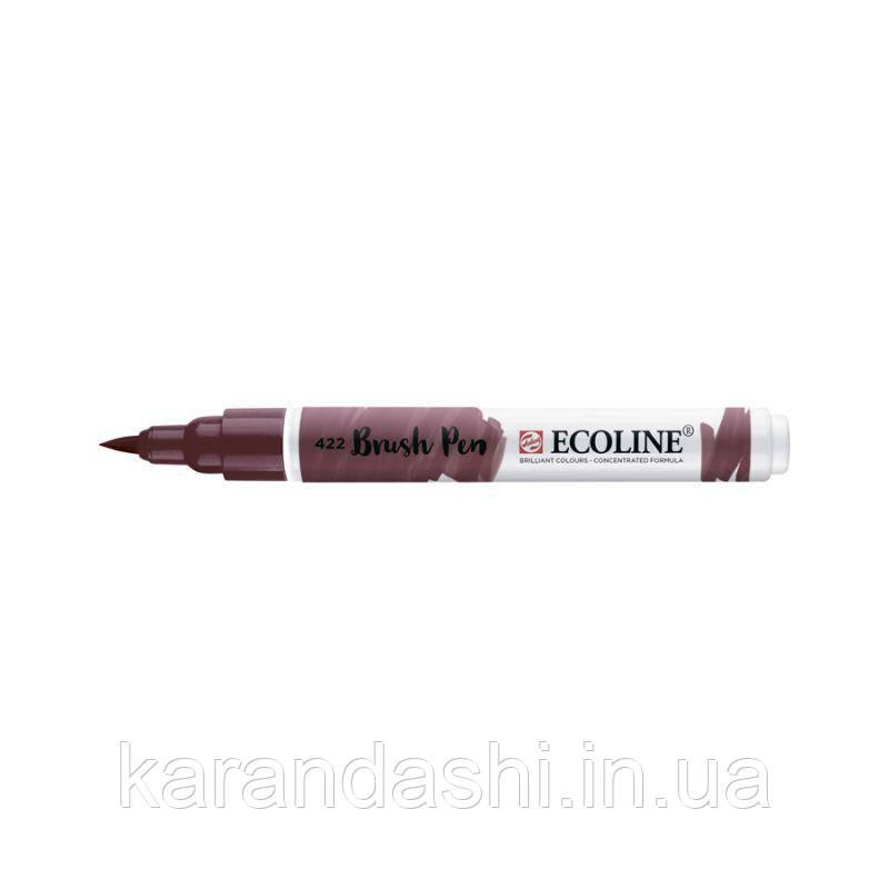 Ручка-кисточка Ecoline Brushpen (422), Красно-коричневая, Royal Talens