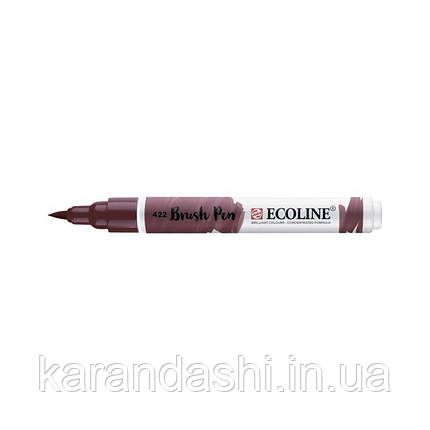 Ручка-кисточка Ecoline Brushpen (422), Красно-коричневая, Royal Talens, фото 2