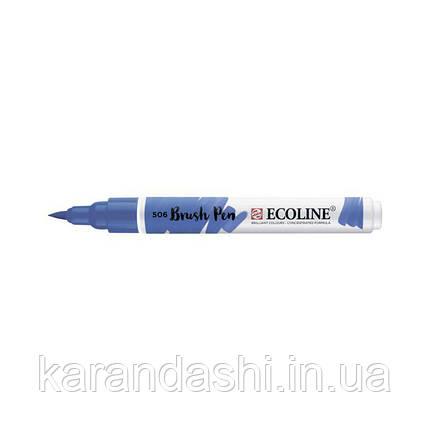 Ручка-кисточка Ecoline Brushpen (506), Ультрамарин темный, Royal Talens, фото 2
