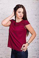 Модная женская блузка весна-лето 2018 - Кокетка - (код бл-184), фото 1
