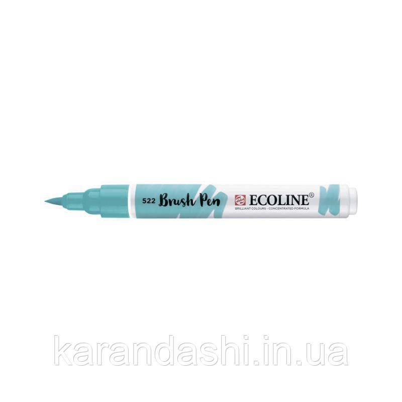 Ручка-кисточка Ecoline Brushpen (522), Бирюзовая синяя ,Royal Talens