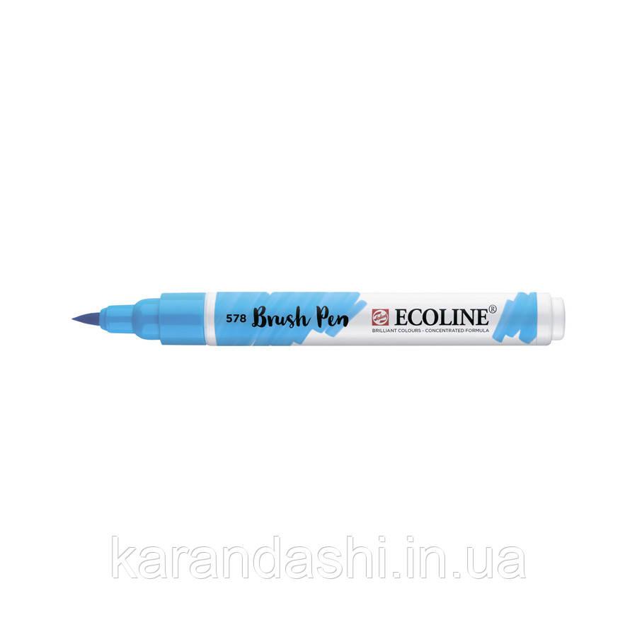 Ручка-кисточка Ecoline Brushpen (578), Небесно-голубая, Royal Talens