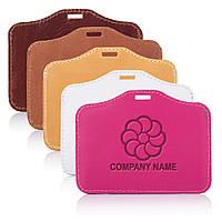 Бейдж шкіряний  MOBICASE NC-03 з Вашим логотипом, колір в асортименті