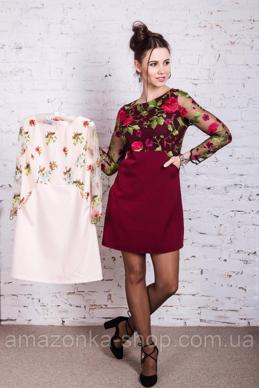 e0578a366ed057b Нарядное женское летнее платье с вышивкой 2018 - Код пл-262 - AMAZONKA™ в