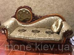 Софа - кушетка в стиле барокко в ткани с пуговицами