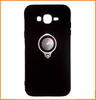Противоударный TPU+PC чехол Deen с креплением под магнитный держатель на Samsung Grand Prime SM-G530/531 Black