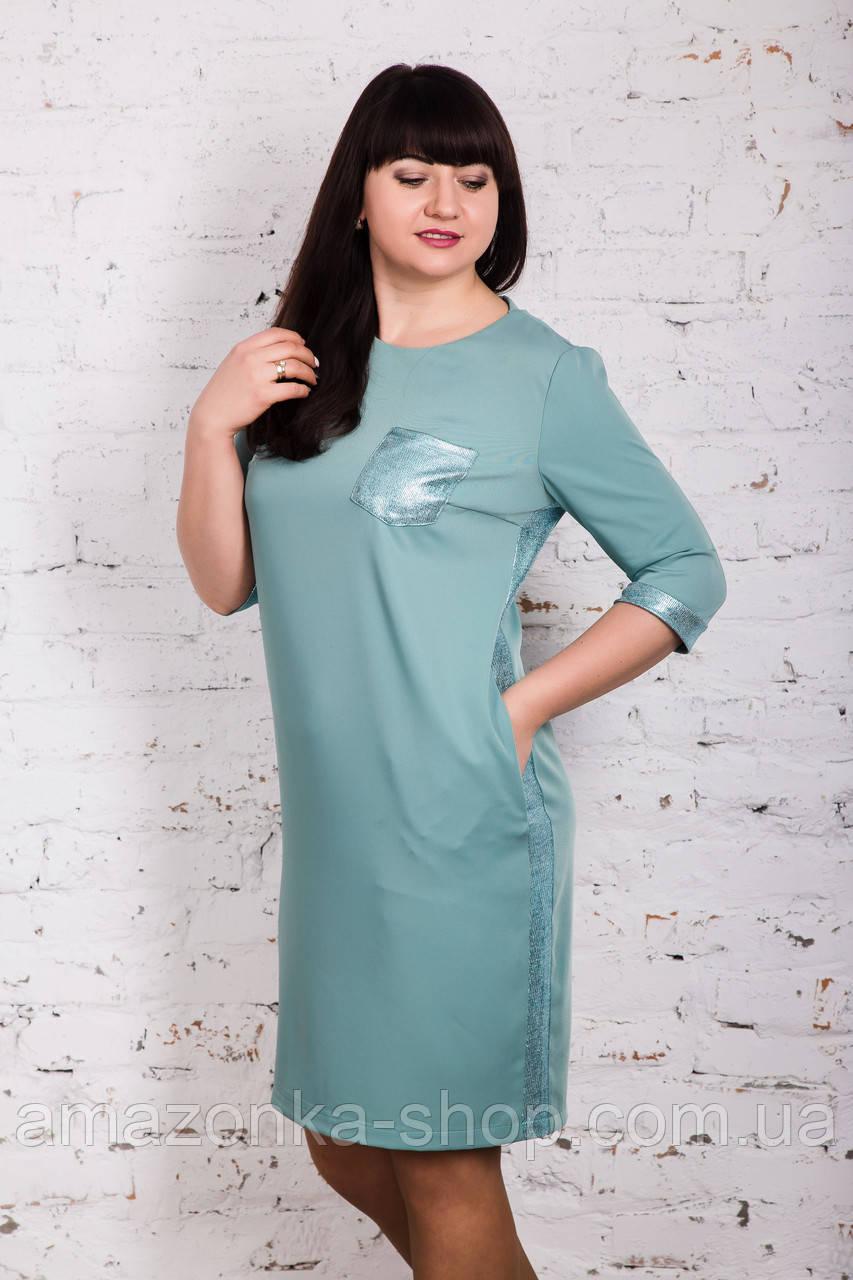 Летнее нарядное платье больших размеров 2018 - Код пл-242