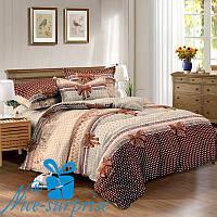 1,5-спальный комплект постельного белья из сатина БАНТИКИ (150*220)