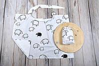 Накидка для кормления (Милк снуд) + сумочка-чехол, Овечки