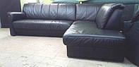 Кожаный мягкий угловой диван + спальное место. Привезен из Германии!!!