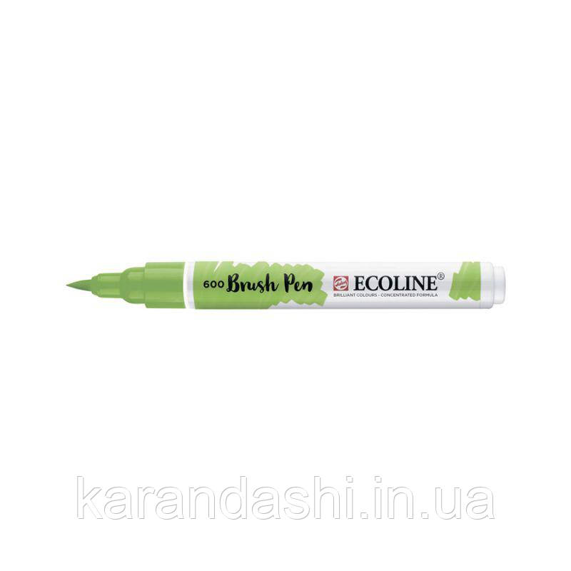 Ручка-кисточка Ecoline Brushpen (600), Зеленая, Royal Talens