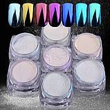Перлова або дзеркальна втирка, пігмент - синій №5., фото 6