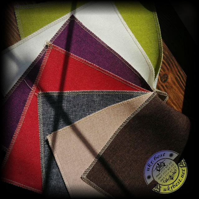 Прочная, приятная на ощупь ткань Рогожка для мягких подушек на подвесных креслах и садовых качелях UkrBest
