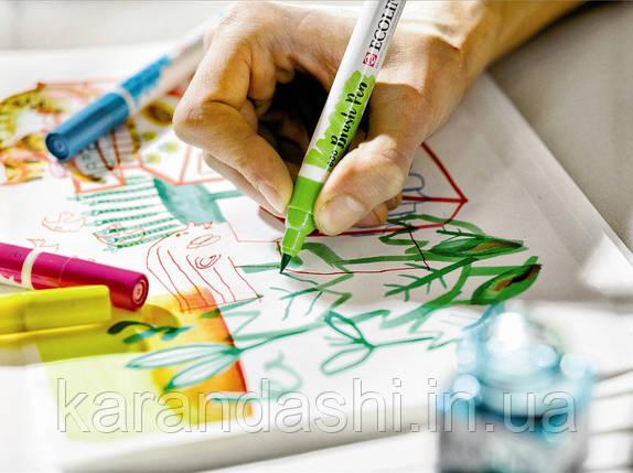 Ручка-кисточка Ecoline Brushpen (656), Зеленая лесная, Royal Talens, фото 2
