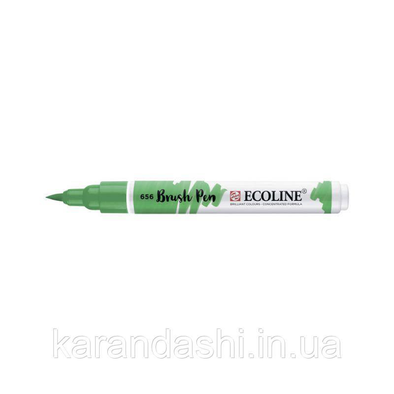 Ручка-кисточка Ecoline Brushpen (656), Зеленая лесная, Royal Talens