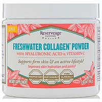 ReserveAge Nutrition, Порошок коллагена из пресной воды с гиалуроновой кислотой и витамином С, лимон, 86 г