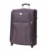 Дорожный чемодан на колесах Bonro Tourist Коричневый Большой